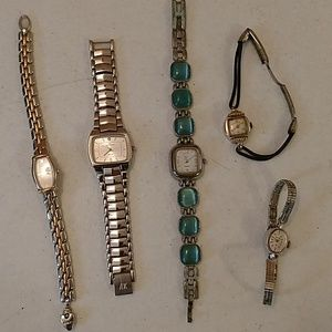 Collection 5 vintage watches Benrus Hamilton Seiko